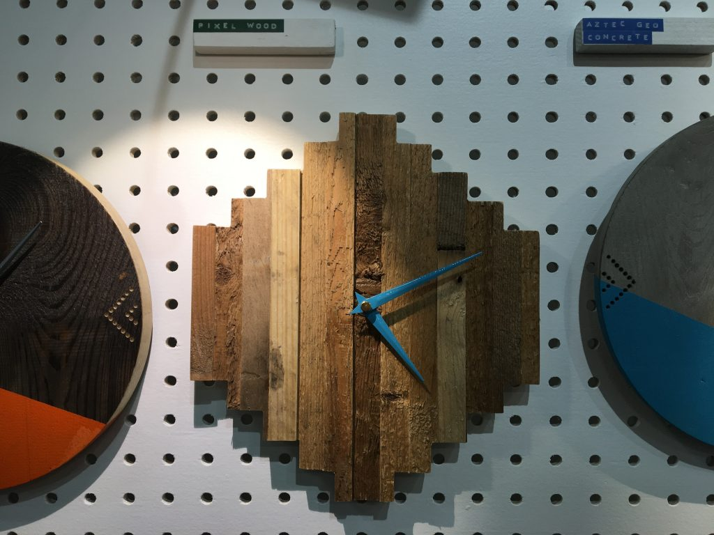 Hey Bulldog Design clock at Showcase