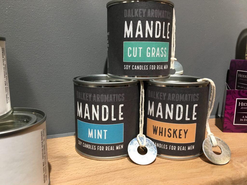 Mandle candles for men at Showcase