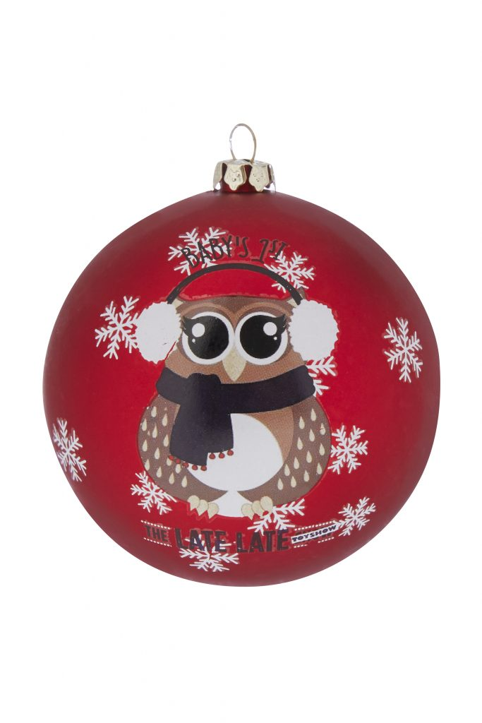 late late show owl christmas bauble