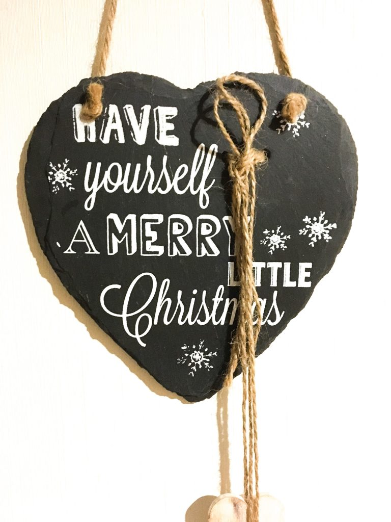 merry christmas sign for a small house