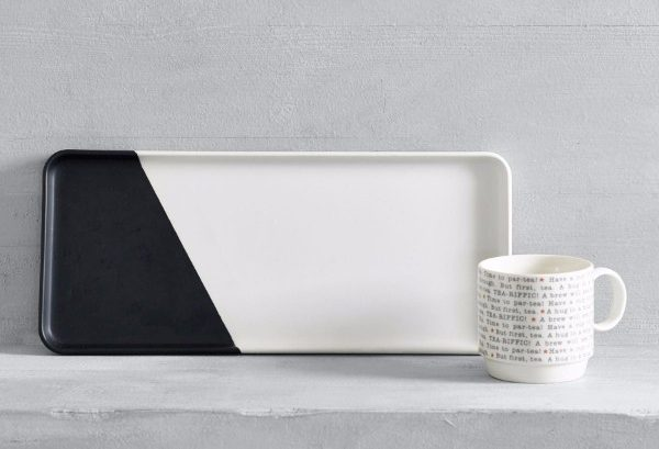 monochrome serving platter from next