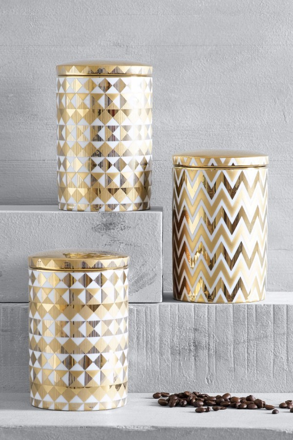 set of 3 metallic storage jars €36 from Next