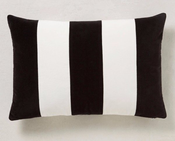 black and white stripe cushion €23.50 from next
