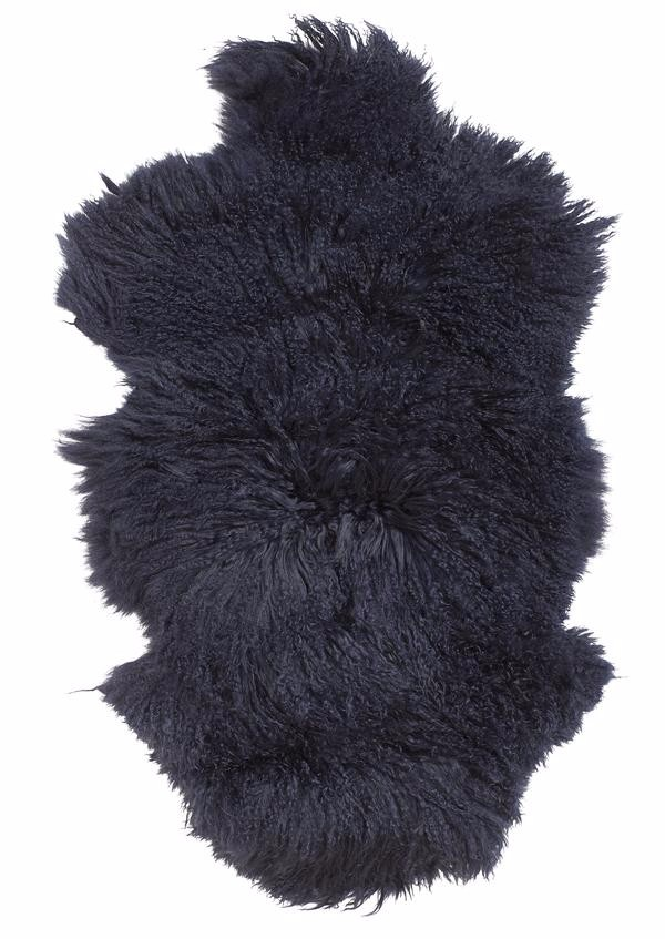 dark blue sheepskin