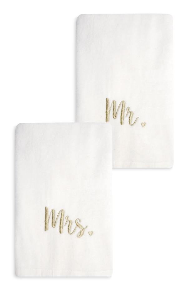 mr and mrs towels