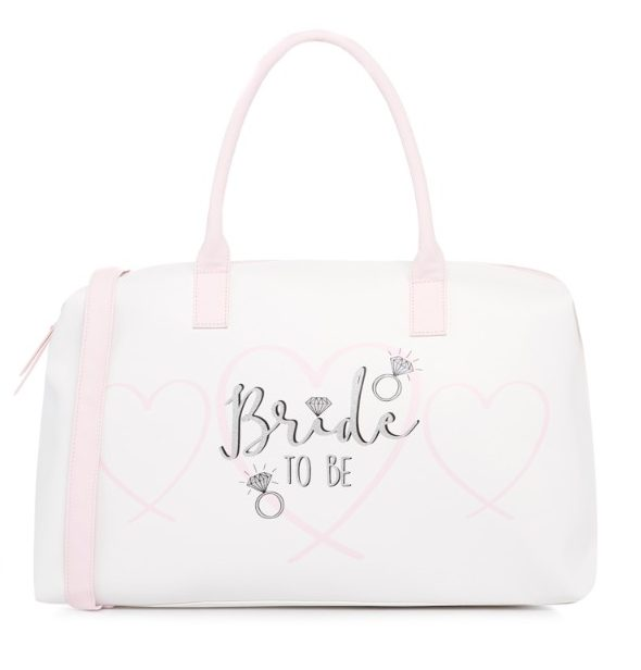 bride to be slippers weekend bag