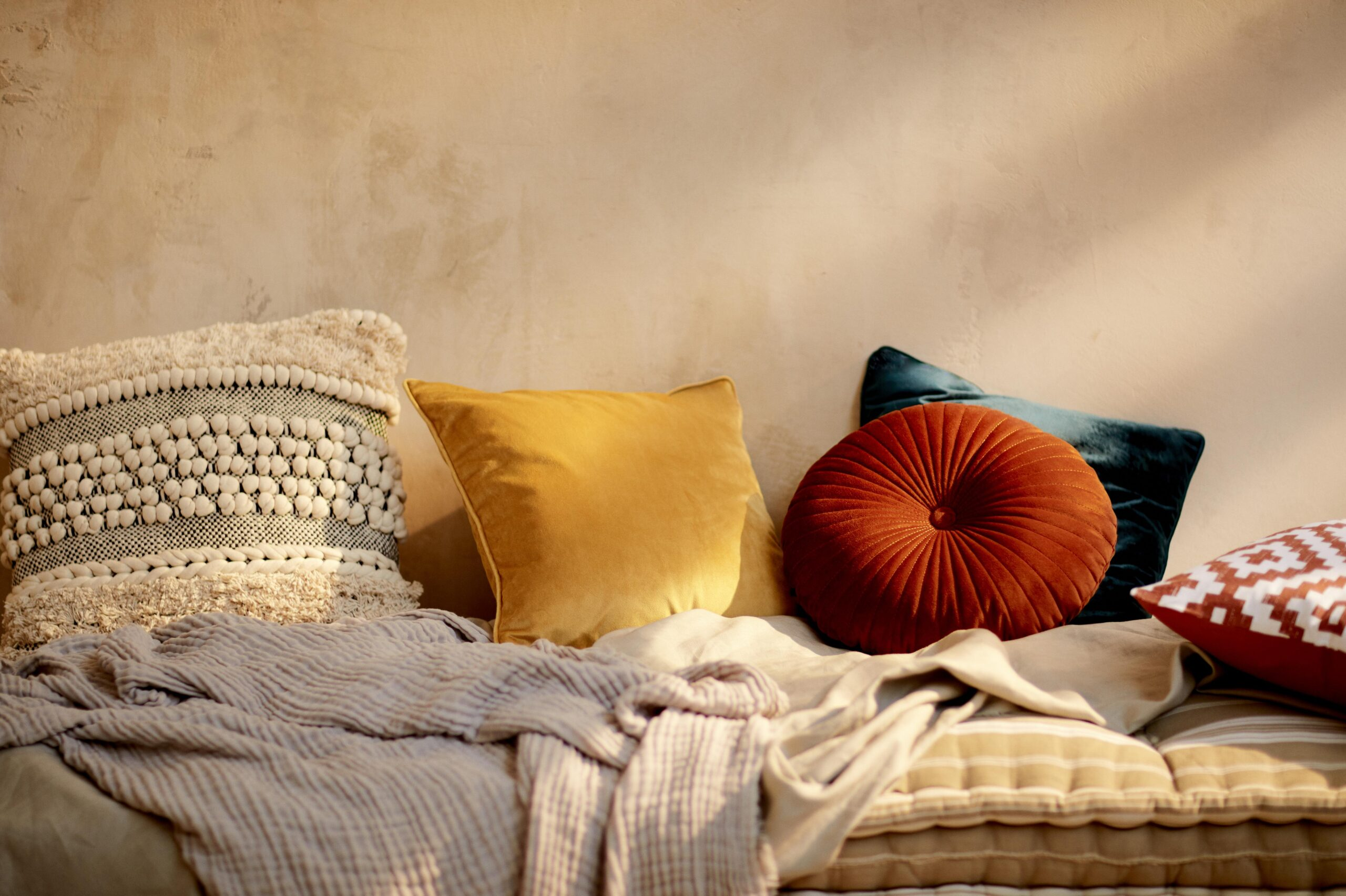 Velvet and textured cushions from Penneys