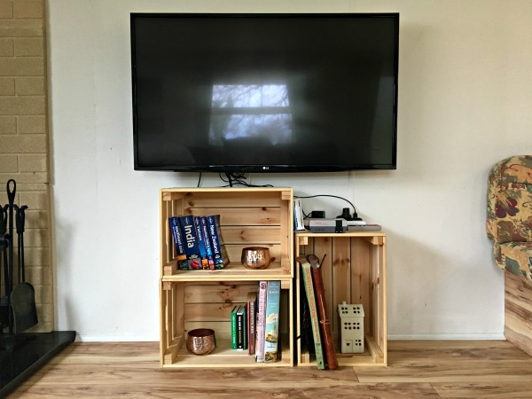 shelves made from crates