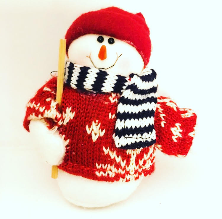 snowman christmas decoration for a tiny home