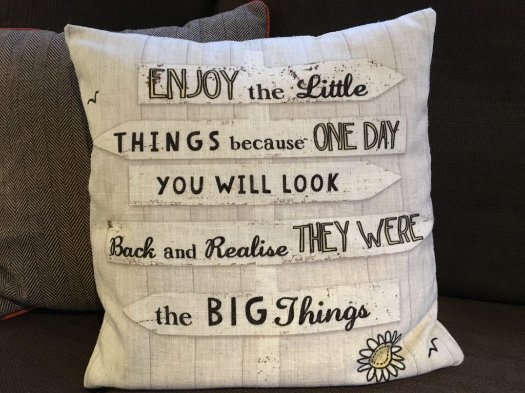 cushion in a mobile home