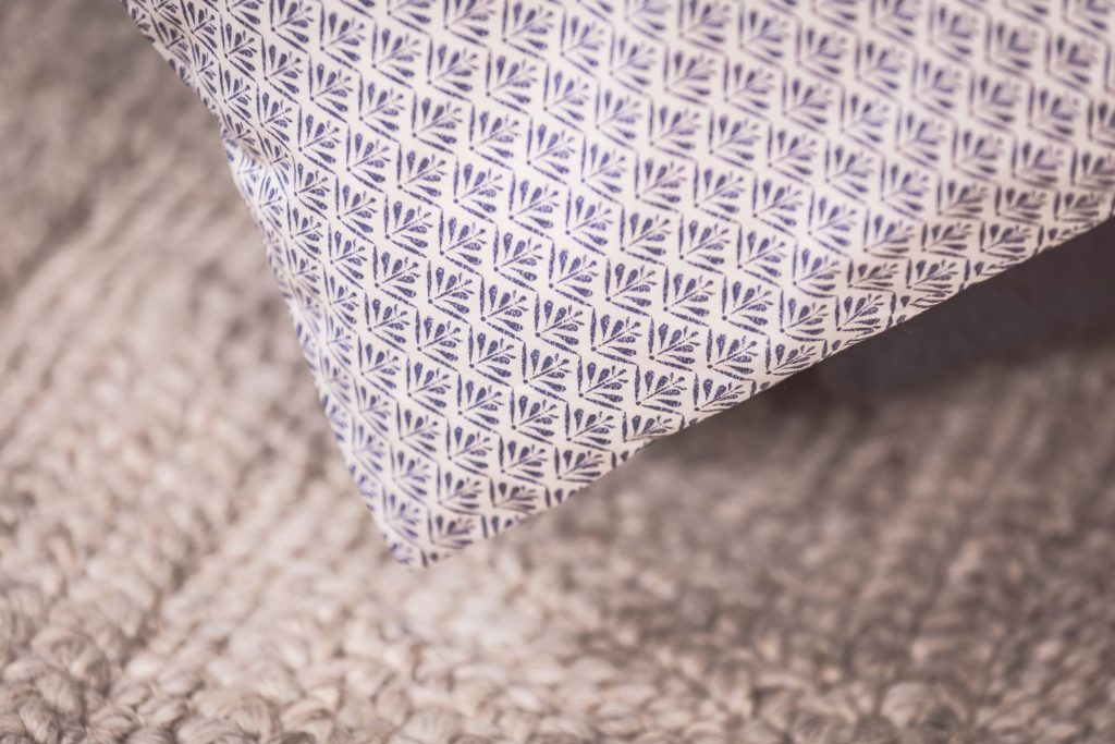 indigo woodblock bed linen