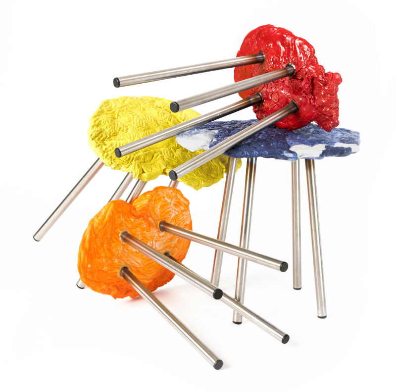 stools made from plastic waste